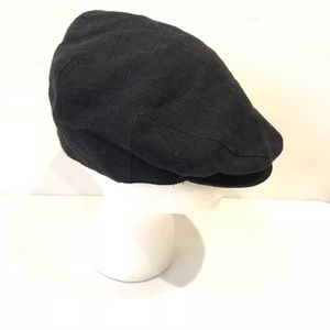 BROOKS BROTHERS newsboy black cap made in Italy